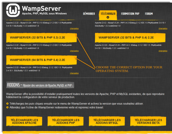 WAMP Download Page