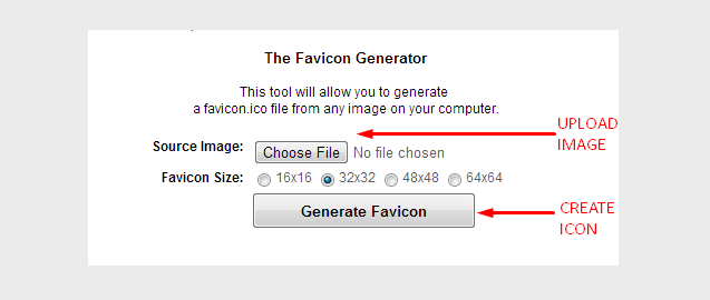 Creating Favicon