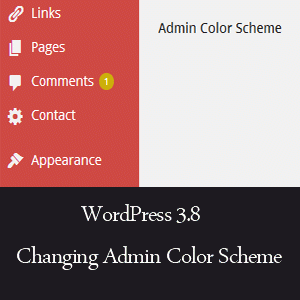 WordPress admin color scheme